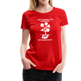 Math Teachers Love a Geometree With Square Roots - Women's Premium T-Shirt - red