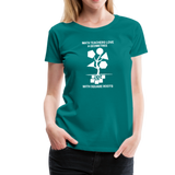 Math Teachers Love a Geometree With Square Roots - Women's Premium T-Shirt - teal