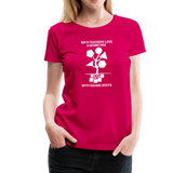 Math Teachers Love a Geometree With Square Roots - Women's Premium T-Shirt - dark pink