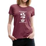 Math Teachers Love a Geometree With Square Roots - Women's Premium T-Shirt - heather burgundy