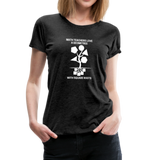 Math Teachers Love a Geometree With Square Roots - Women's Premium T-Shirt - charcoal gray