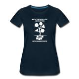 Math Teachers Love a Geometree With Square Roots - Women's Premium T-Shirt - deep navy