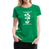 Math Teachers Love a Geometree With Square Roots - Women's Premium T-Shirt - kelly green