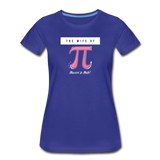 The Wife of Pi Married to Math - Women's Premium T-Shirt - royal blue