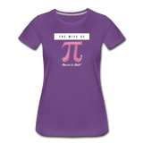 The Wife of Pi Married to Math - Women's Premium T-Shirt - purple
