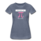 The Wife of Pi Married to Math - Women's Premium T-Shirt - heather blue