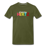 Frequency Hertz - Men's Premium Math T-Shirt - olive green