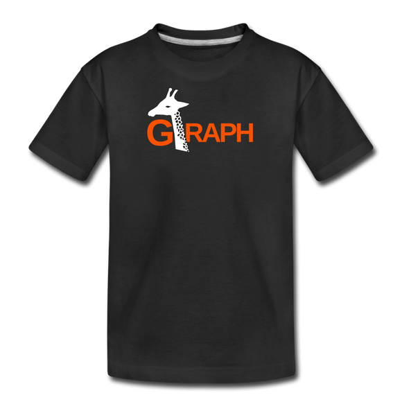 G-RAPH Giraffe Math - Kids' Premium T-Shirt - black