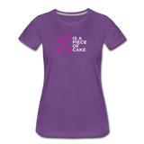 Pi is a Piece of Cake - Women's Premium Math Teacher T-Shirt - purple