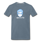 Harry Plotter - Men's Premium Math T-Shirt - steel blue