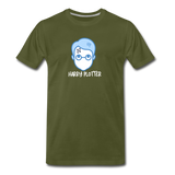 Harry Plotter - Men's Premium Math T-Shirt - olive green