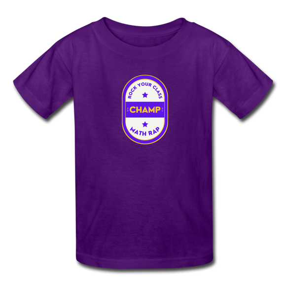 Official Math Rap Champ Shirt - Kids' T-Shirt - purple