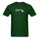Math Teachers are like drummers, good with symbols - Unisex Classic T-Shirt - forest green