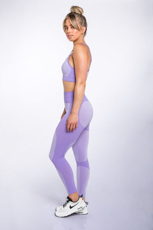 DYE Seamless Low-Line Crop - Lavender