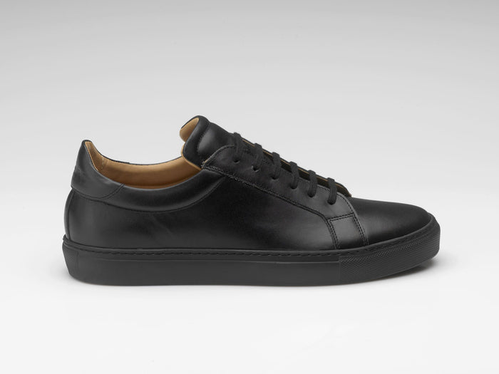 mens black leather sneakers fccae369042a