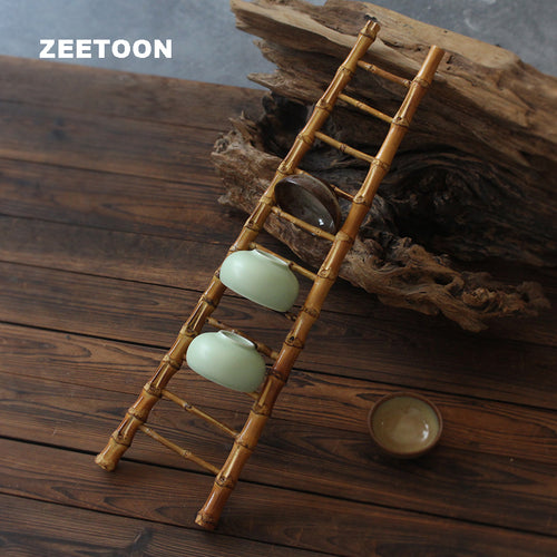 Bamboo Mini Ladder Tea Cup Holder - The Teapot Store