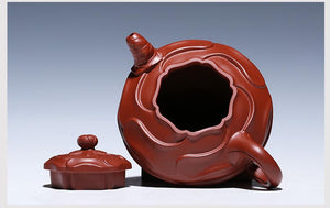 320ml Boutique Yixing Wind Roll Teapot - The Teapot Store