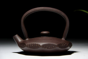 Sea Love Yixing Purple Clay Ore Teapot - The Teapot Store