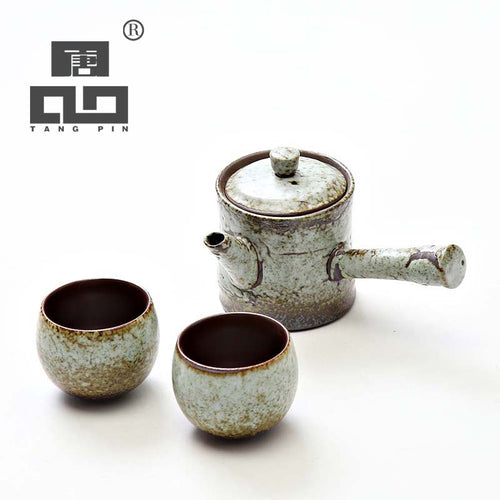 TANGPIN Vintage Style Side Handle Tea Set - three colours available - The Teapot Store
