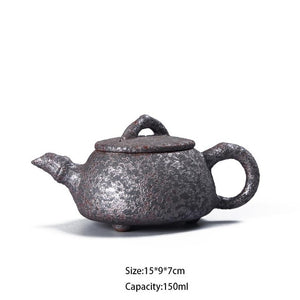 150ml Handmade Vintage Wood Fired Teapot - The Teapot Store