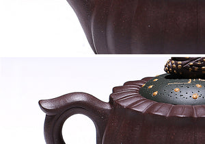 150ml Authentic Yixing Teapot - Flowers and Bee Design - The Teapot Store