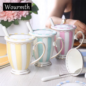 Wourmth Vintage Look Porcelain Tea Cups (ten colours available) - The Teapot Store