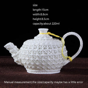 220ML Creative Lace Look Ceramic Teapot - The Teapot Store