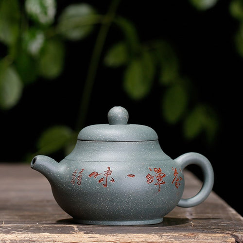 Raw Ore Handmade Yixing Green Clay Teapot - The Teapot Store