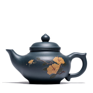 300ml Yixing Hand Painted Purple Clay Teapot