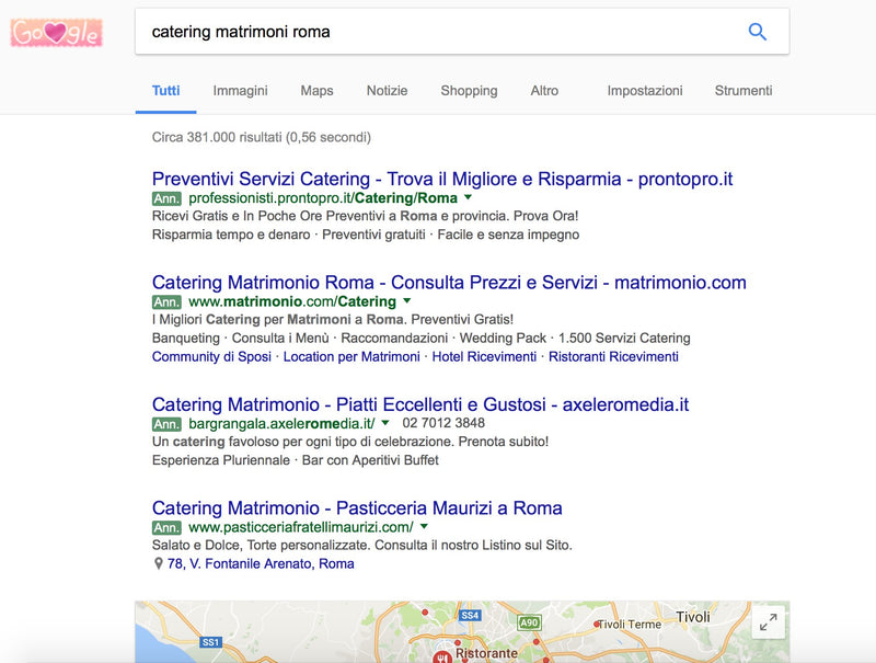 Dominio web cateringmatrimoniroma.it