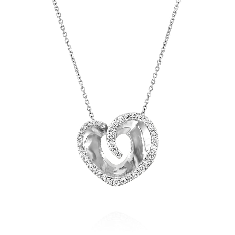 Heart diamond pendant necklace
