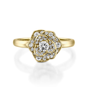1/2 Carat Diamonds engagement ring flower shape
