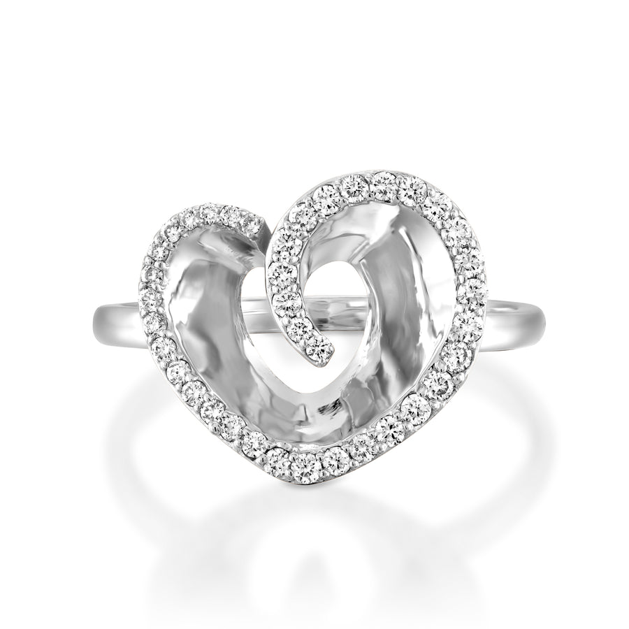 R3421ES-Heart diamond ring