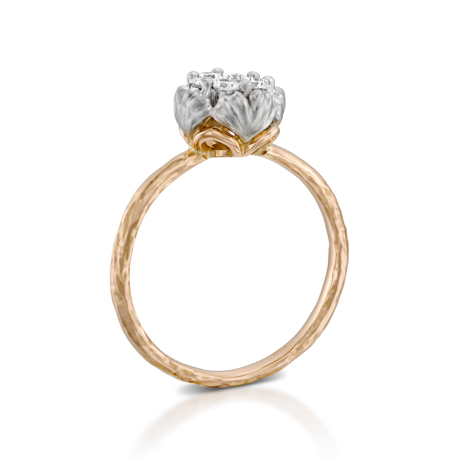 RS745AB- Diamond floral ring