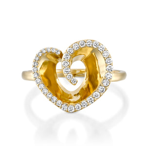Heart diamond ring