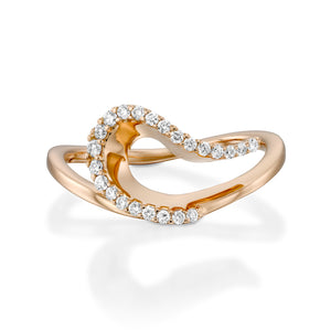 Unique diamond promise ring for women