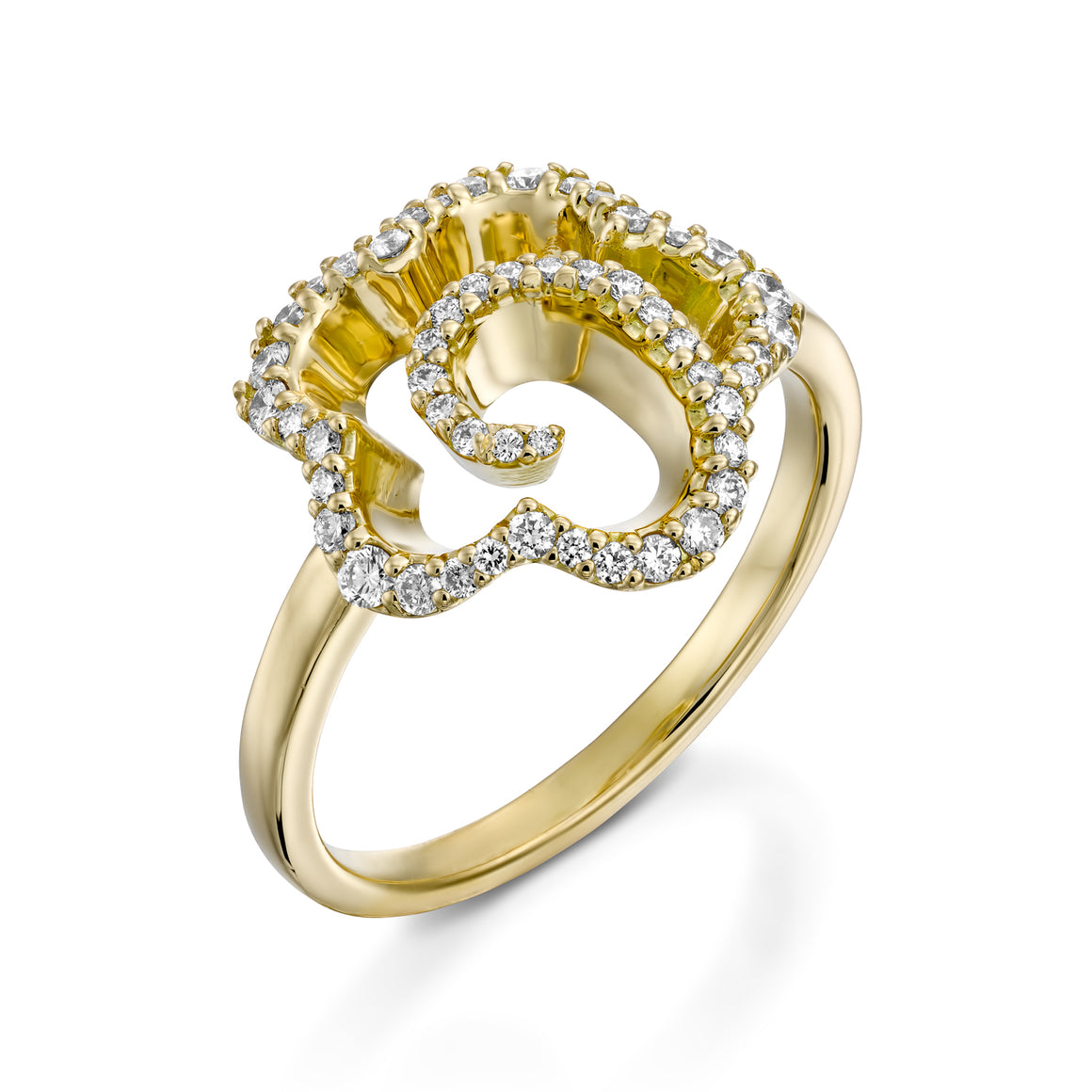 R3420ES-Lotus Diamond Ring
