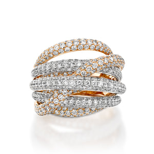 RNH428-Diamond Crossover engagement ring