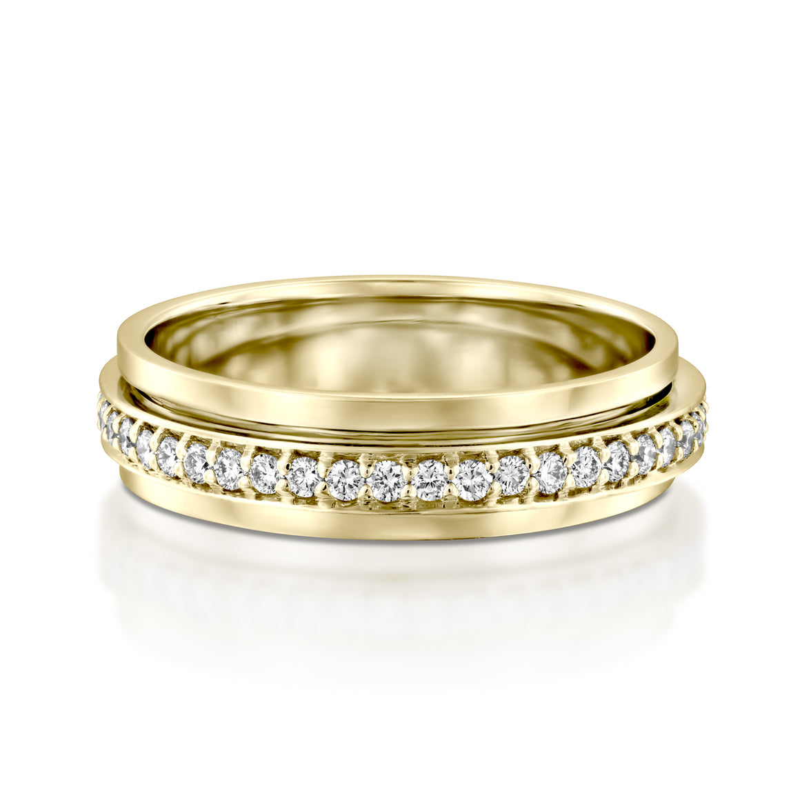 RTUB1339-18k Gold  diamond spinner ring for women