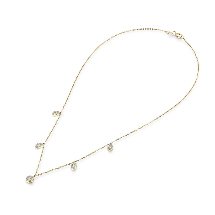 0.54 Carat diamonds Rose Gold Choker Necklace