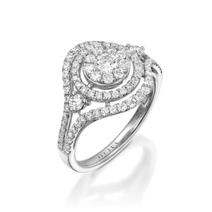 RNR17104-Pave diamond halo engagement ring