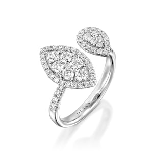 Open Marquise Diamond Engagement Ring
