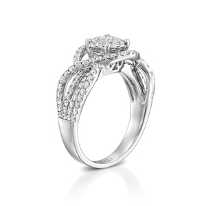 1.08 carat Micropavé diamond infinity ring