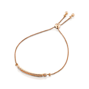 0.39 Carat Double slider gold diamond bracelet