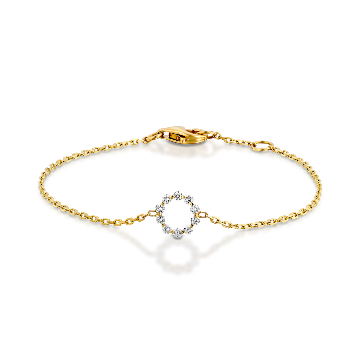 Bridal wedding bracelet in diamond and 18k gold