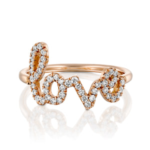R3854- Diamond Love gold ring