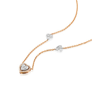 Diamond Charm Heart necklace