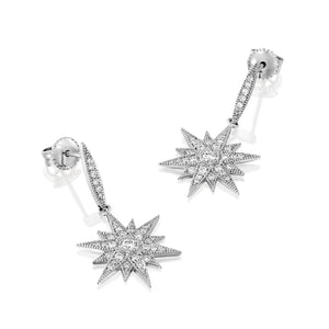 Star real diamond stud earrings