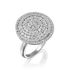 1.92 Carat Circle diamond engagement ring