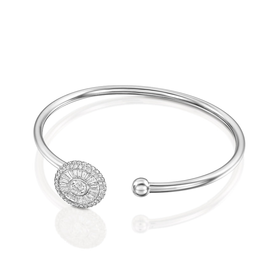 Diamond bangle bracelet Sun collection